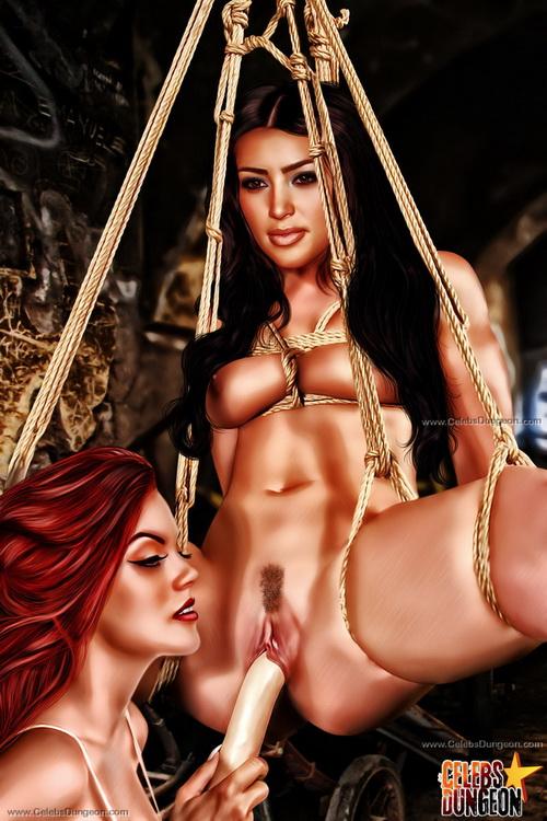 kim kardashian bondage nude fakes