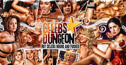 Celebs Dungeon - mixing celebrity bondage and hardcore action