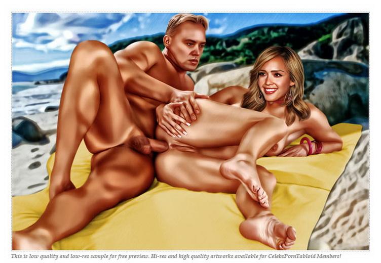 Jessica Alba hot action